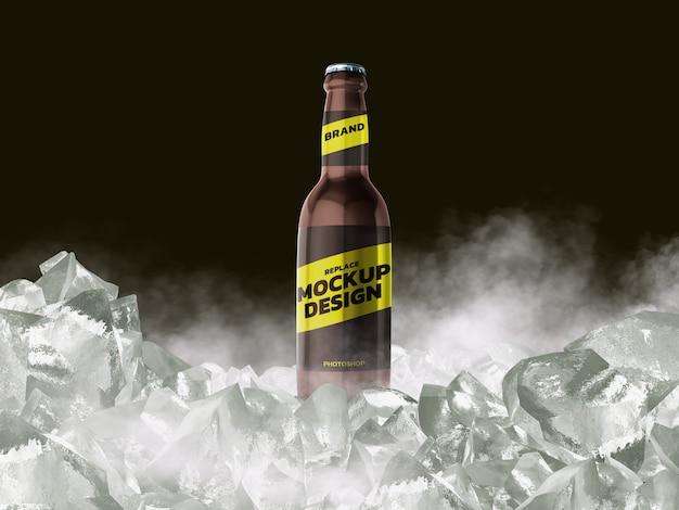 Fles mockup 3d-rendering ontwerp
