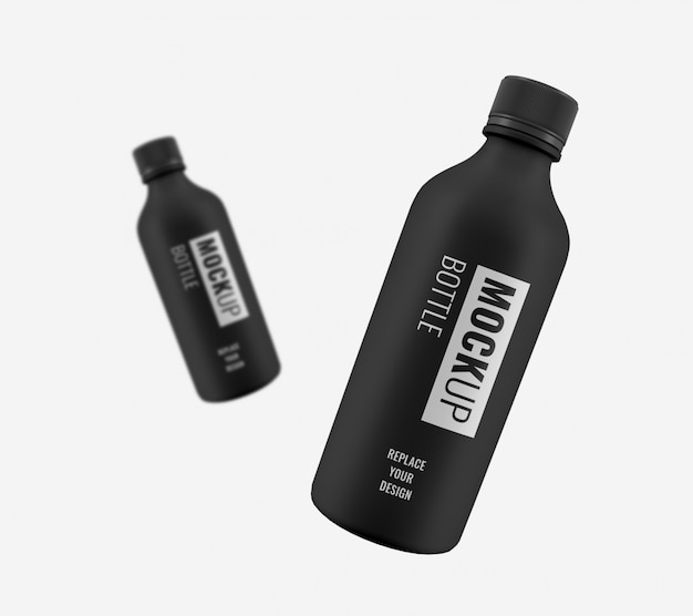 Fles reclame mockup Premium Psd