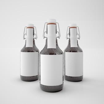 Flessen met blanco etiket