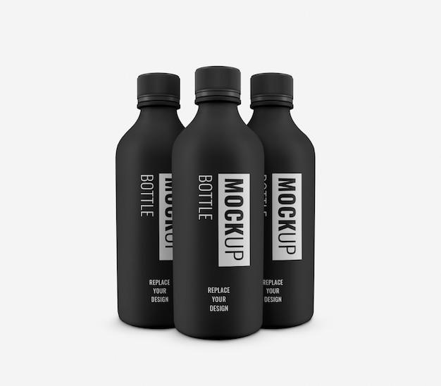 Flessen water minimaal mockup realistisch