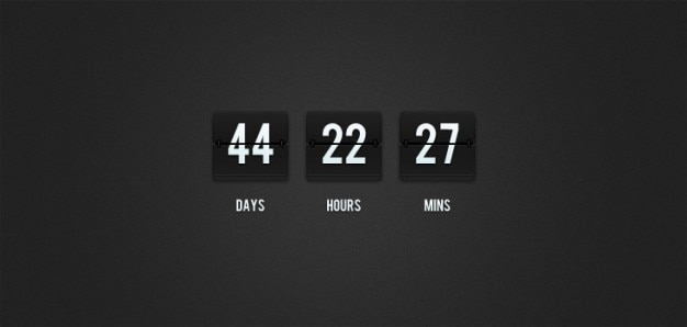 Flip-countdown clock (psd)