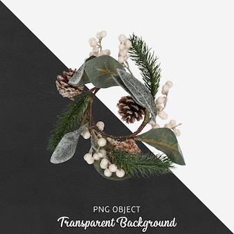 Flor de navidad en transparente