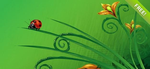 Floral achtergrond instellen