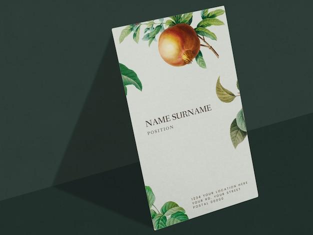 Floral naamkaart ontwerp