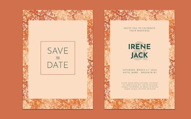 Floral wedding incitatie