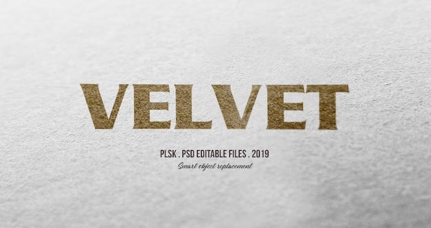 Fluweel 3d tekststijleffect