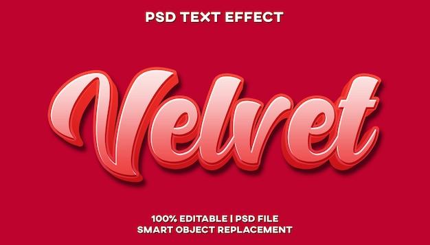 Fluwelen teksteffect