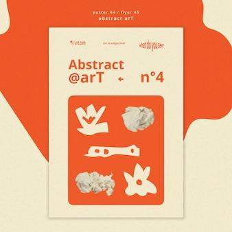 Flyer abstracte kunstsjabloon
