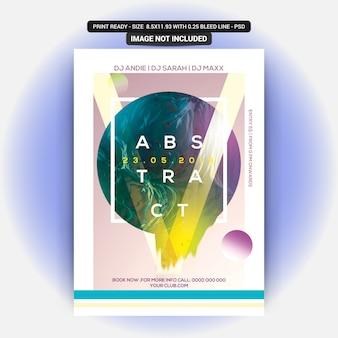 Flyer abstracto de la fiesta