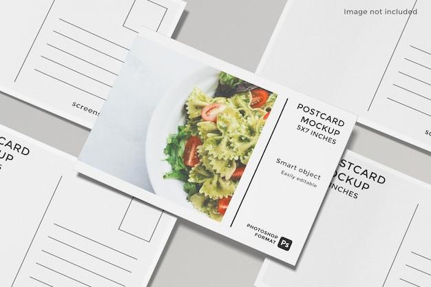 Flyer briefkaart mockup ontwerp geïsoleerd
