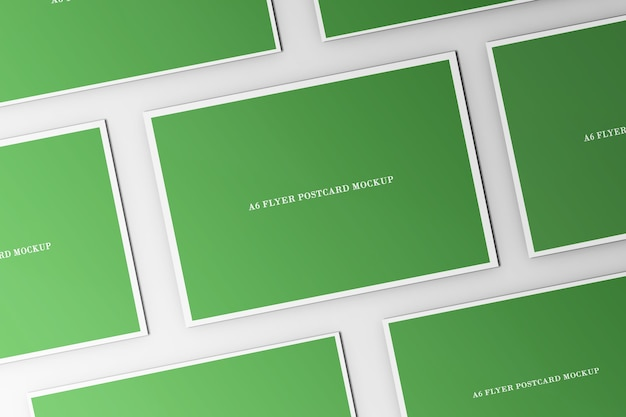 Flyer briefkaart mockup