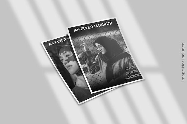 Flyer brochure mockup met schaduw overlay