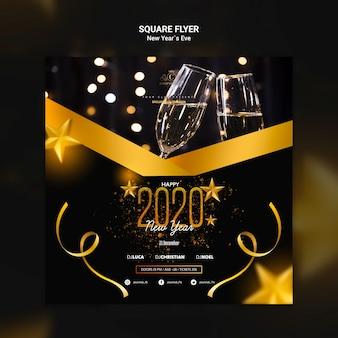 Flyer concept voor oudejaarsavond sjabloon