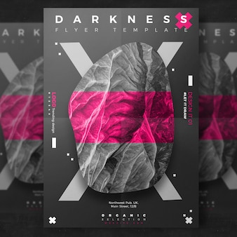Flyer creativo dark event