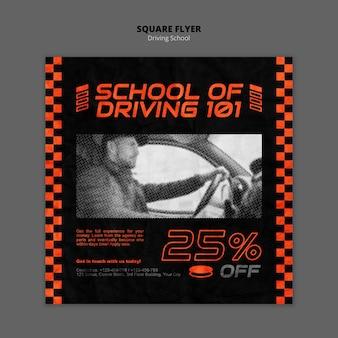 Flyer cuadrado de concepto de conducción