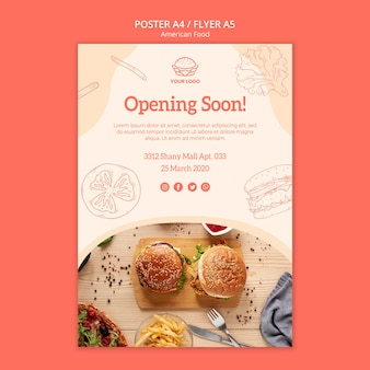 Flyer design restaurant opening
