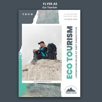 Flyer eco toerisme sjabloon