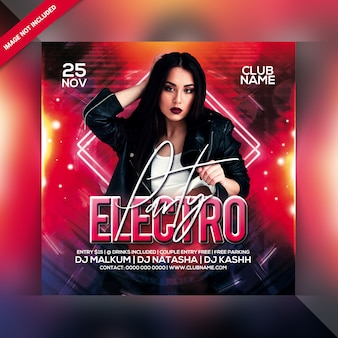 Flyer electro party