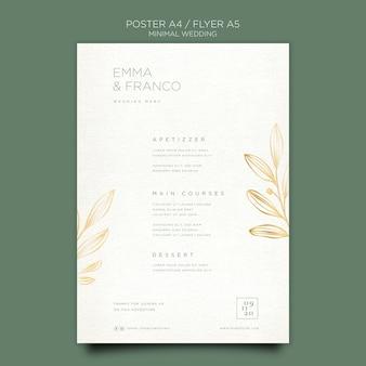 Flyer elegante para boda