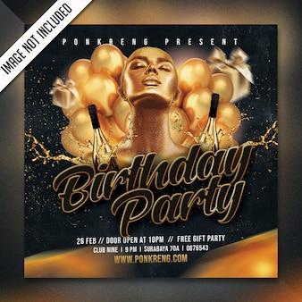Flyer fiesta de cumpleaños psd