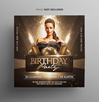 Flyer de fiesta de cumpleaños