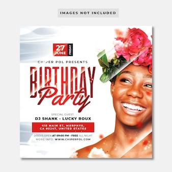 Flyer fiesta de cumpleaños