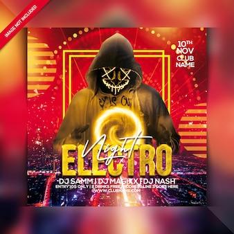 Flyer fiesta electro noche
