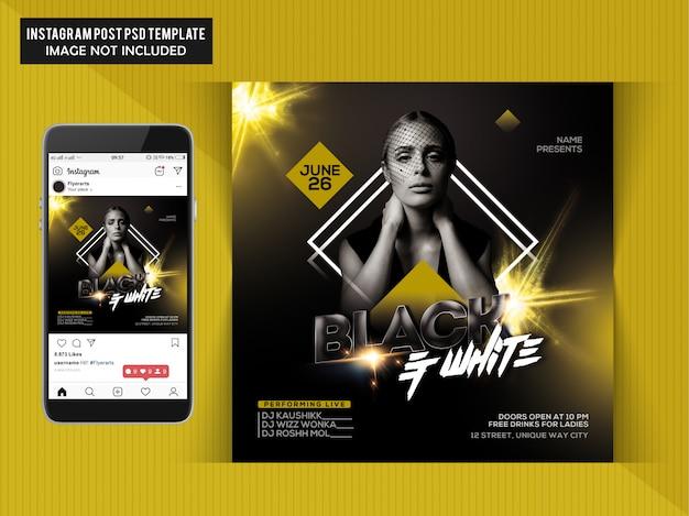 Flyer fiesta negro y blanco