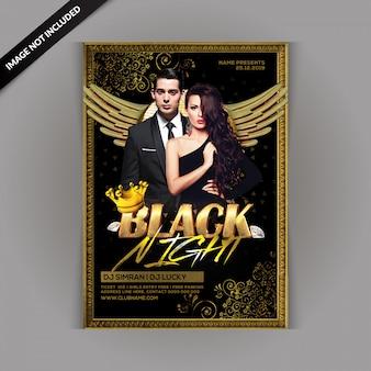 Flyer de la fiesta de la noche negra