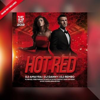 Flyer fiesta rojo caliente