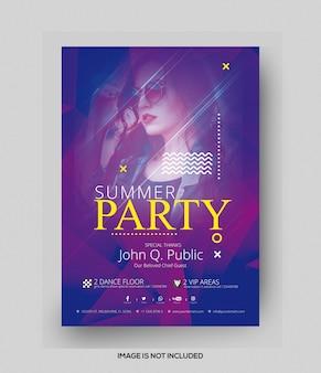 Flyer de fiesta de verano