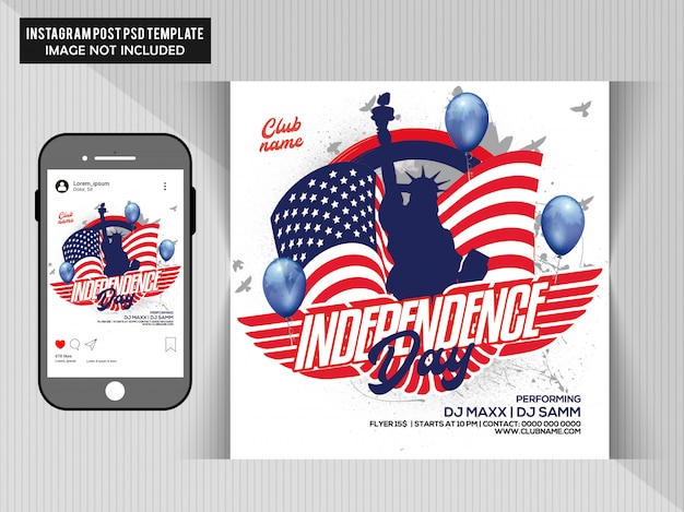 Flyer independence day