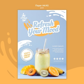 Flyer juice bar-sjabloon
