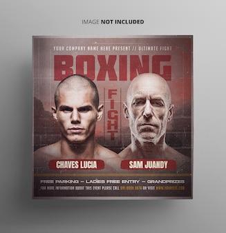 Flyer de lucha de boxeo
