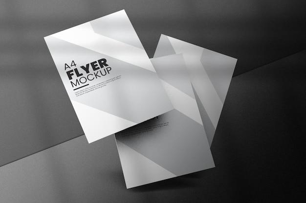 Flyer mockup design geïsoleerd