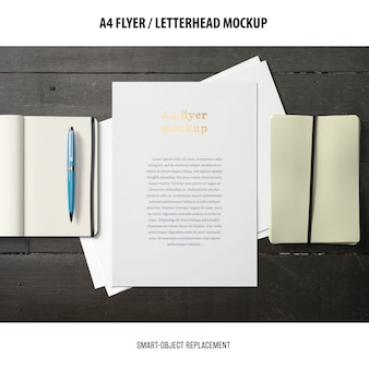 Flyer o carta intestata mockup