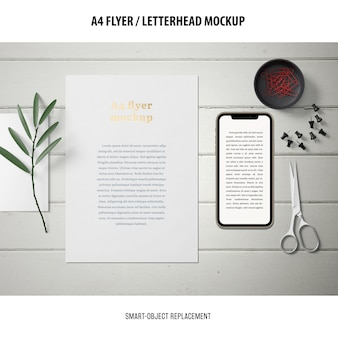 Flyer of briefhoofd mockup