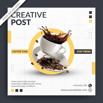 Flyer of social media banner voor creatieve post