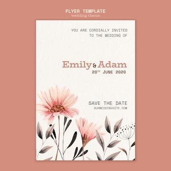 Flyer ontwerp voor bruiloft sjabloon