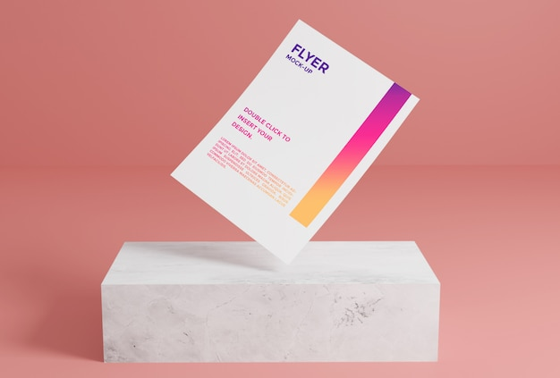 Flyer paper mockup premium psd