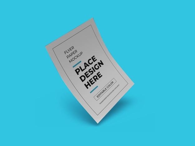 Flyer papieren mockup