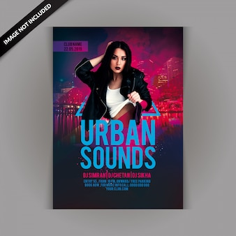Flyer party di urban sounds