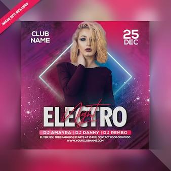 Flyer per feste electro night
