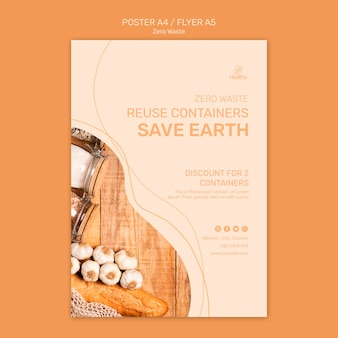 Flyer per zero rifiuti