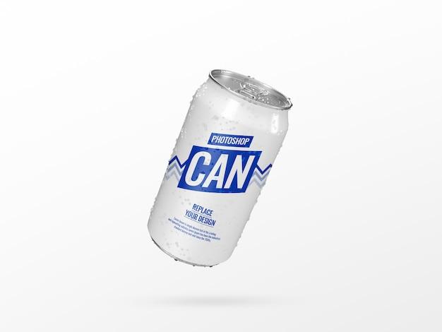 Flyer puede soda maqueta renderizado 3d realista