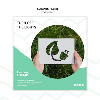Flyer sjabloon concept met omgeving