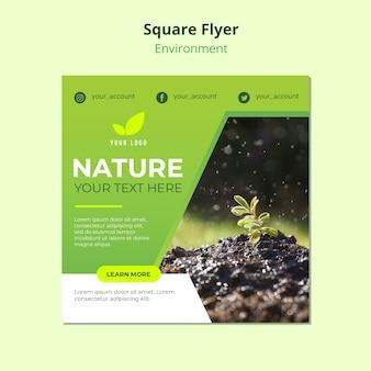 Flyer sjabloon concept van de natuur milieu