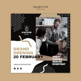 Flyer sjabloon concept voor coffeeshop
