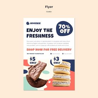 Flyer-sjabloon met cookies