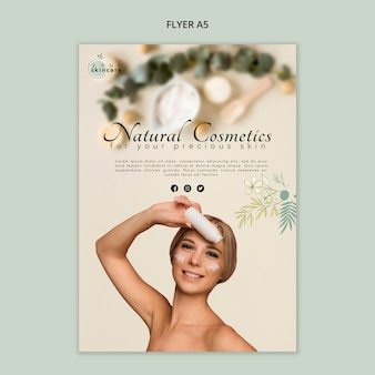 Flyer sjabloon natuurlijke cosmetica